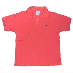 Lacoste Boys Orange Polo Shirt Size 14